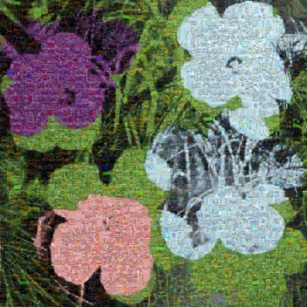 Flowers II 64 Mosaic