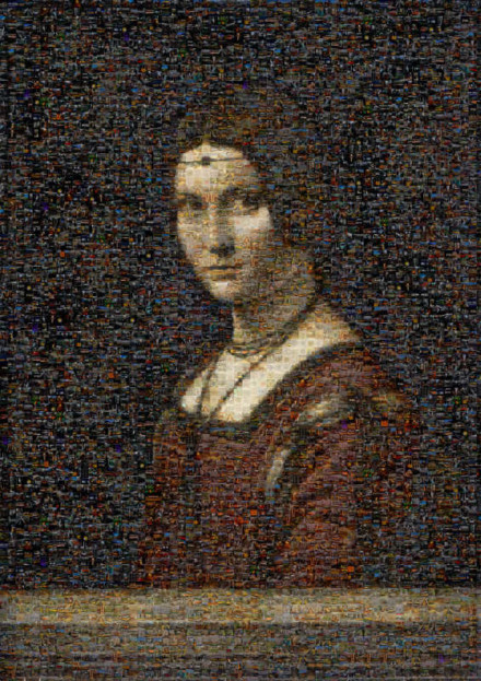 Leonardo da Vinci Belle Ferroniere Mosaic