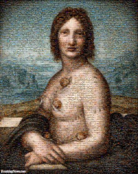 Pierced Gioconda by Leonardo Da Vinci 108115 Mosaic