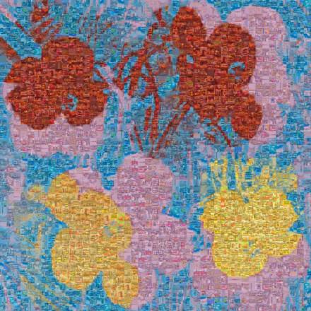 Warhol flowers ii 66 Mosaic
