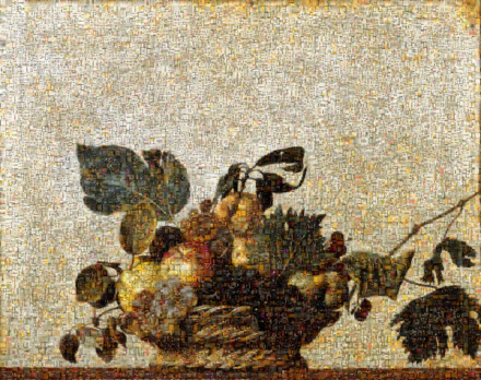 Basket of fruit (Caravaggio) Mosaic