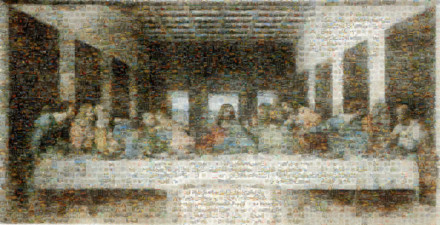 Leonardo da Vinci (1452-1519)-The Last Supper (1495-1498) Mosaic 02 3000 50MP